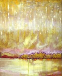 O cadro foi pintado un venres do mes de agosto