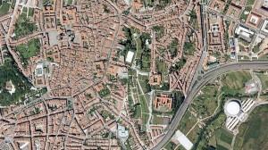Fotoplano correspondente á cidade de Santiago de Compostela