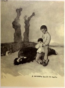 """""""A derradeira lección do mestre"""" (Galicia Mártir, 1937)"""