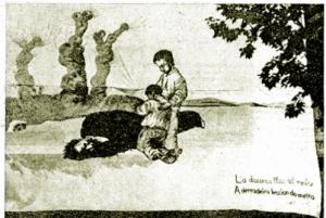 La darrera lliçó del mestre (pancarta na Universidade de Barcelona, 1937)