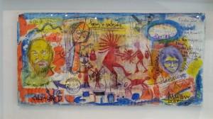 A obra do artista da Pobra forma parte dunha exposición que se pode ver no Amanitas